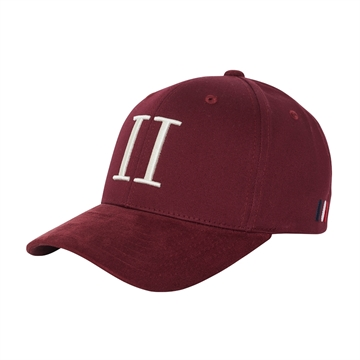Les Deux Baseball Cap Suede II - Burgundy/Off White