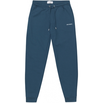 Les Deux Lens Sweatpants - Denim Blue/White