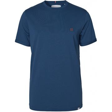 Les Deux Nørregaard t-shirt - Denim Blue/Orange
