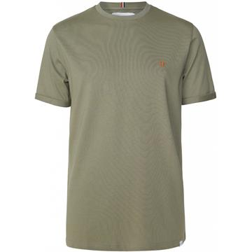 Les Deux Nørregaard t-shirt - Lichen Green/Orange