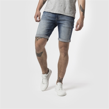 Rvlt 5409 Destroyed Shorts - Lightblue