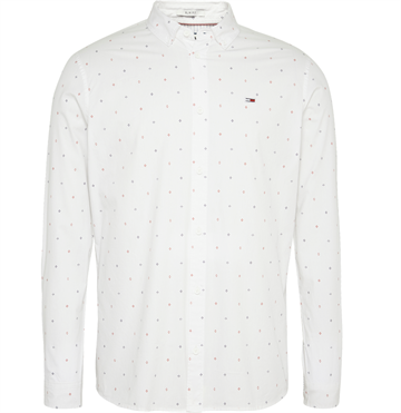 Tommy Jeans TJM Disty print shirt - Classic White