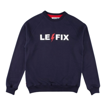 Le Fix Lightning Crewneck - Navy