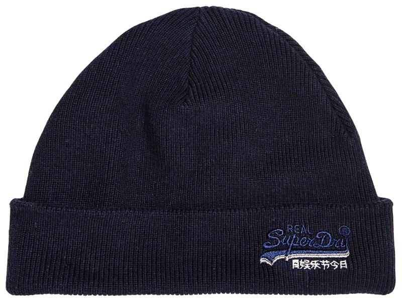 Superdry Orange Label Beanie - Downhill Navy
