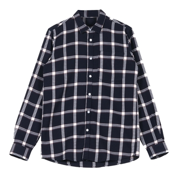 Woodbird Poinder Check Skjorte - Navy Check