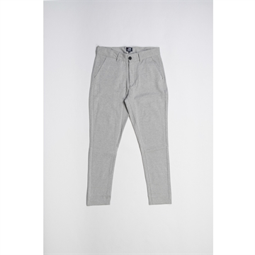 Denim Project Ponte Roma plain pants - Light grey melange