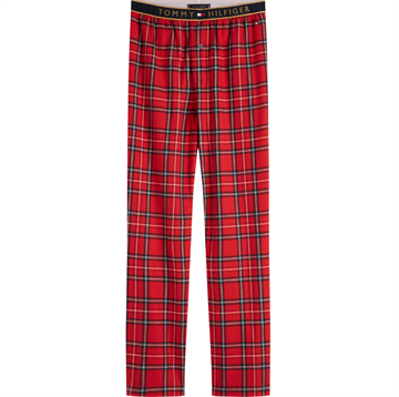Tommy Hilfiger Flannel Check Gold Pant - Tango Red