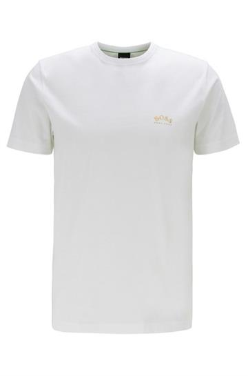 BOSS Athleisure curved tee - Open White
