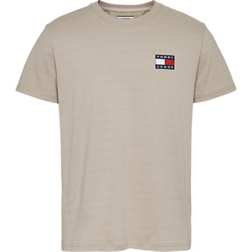 Tommy Jeans TJM Tommy Badge tee - AEP Stone