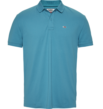 Tommy Jeans TJM Classic solid stretch poloshirt - Exotic Teal