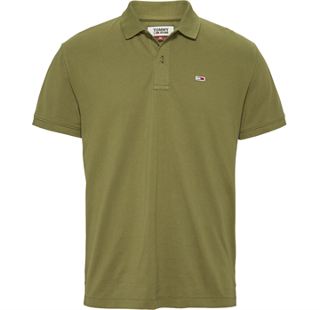 Tommy Jeans TJM Classic solid stretch poloshirt - Uniform Olive