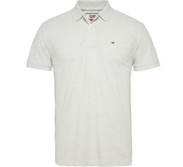 Tommy Jeans TJM Classic solid stretch poloshirt - Pale Grey HTR
