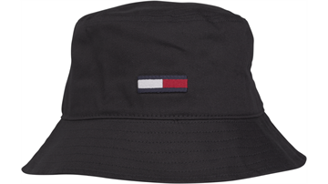Tommy Jeans TJM Flag bucket hat - Black