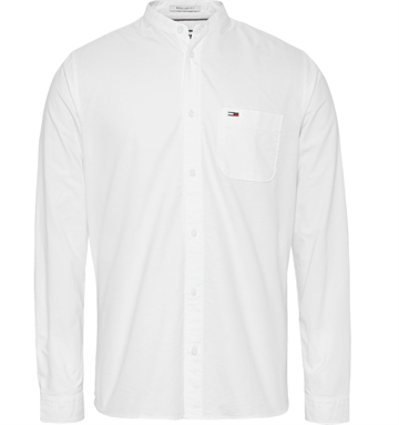 Tommy Jeans TJM Mao Collar oxford shirt - White