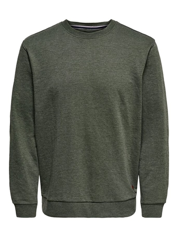 Only & Sons Winston crewneck sweat - Forest Night