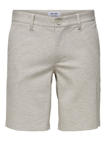 Only & Sons Mark REG Mel. shorts GD 5832 - Chinchilla