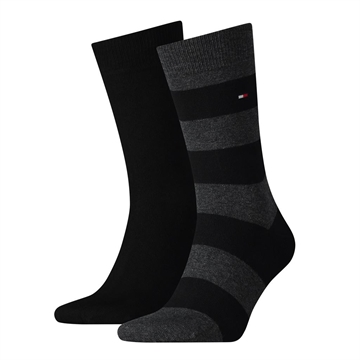 Tommy Hilfiger Men Rugby Sock 2 Pack - Black