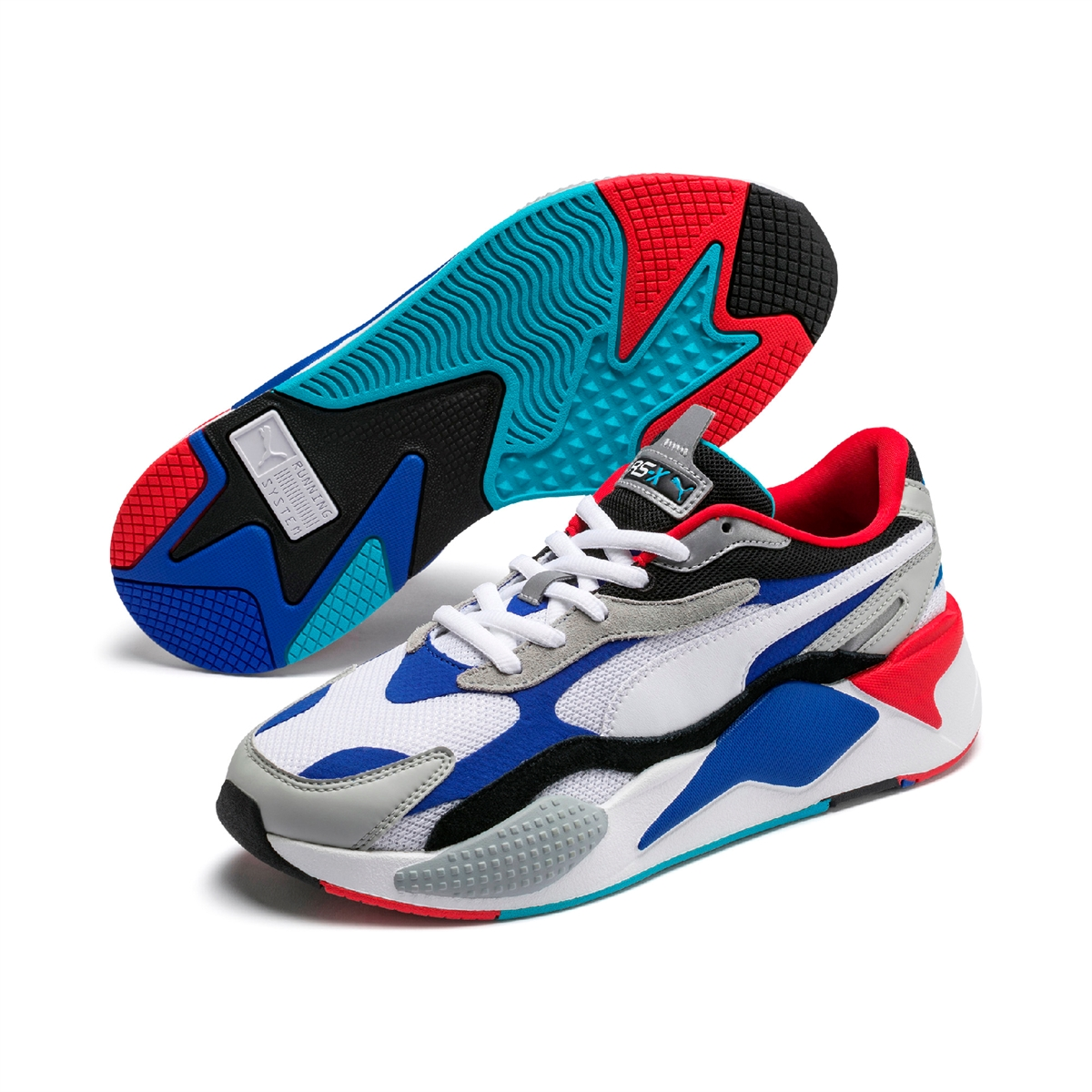 PUMA RS X3 Puzzle WhiteDazzling Blue