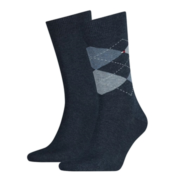 Tommy Hilfiger men sock check 2-pack - Jeans