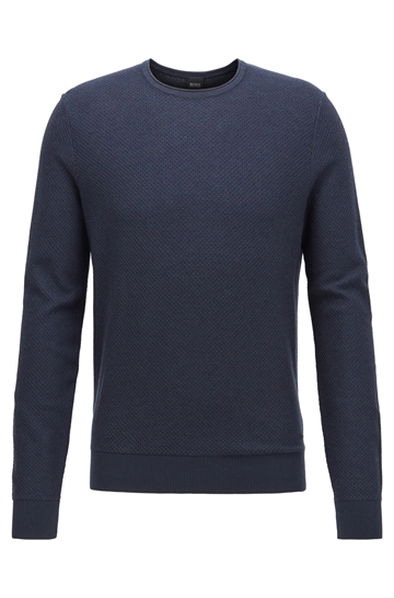 BOSS Casual Komasro sweater - Dark Blue