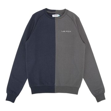 Le Fix Split Crew - Grey/Navy