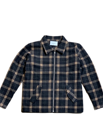 Woodbird Plucked Wool Jakke - Grey Check