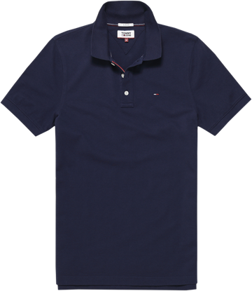 Tommy Jeans Tjm Original Fine Pique Polo S/S - Black Iris