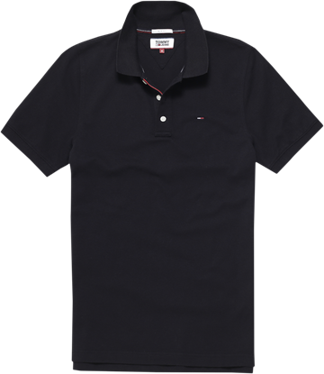 Tommy Jeans Tjm Original Fine Pique Polo S/S - Tommy Black