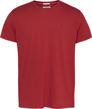 Tommy Jeans TJM Essential Solid t-shirt - Wine Red