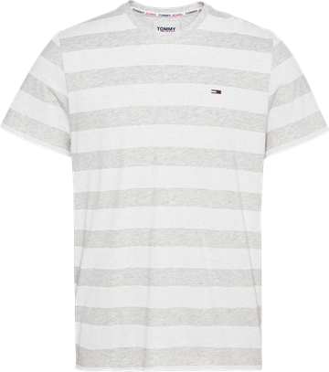 Tommy Jeans TJM Heather Stripe Tee - White