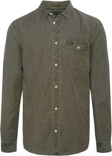 Tommy Jeans TJM washed oxford shirt - Olive night