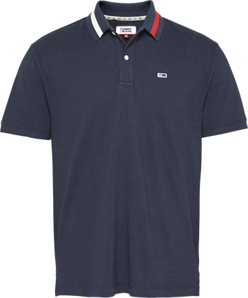 Tommy Jeans TJM Flag neck polo - Twilight navy