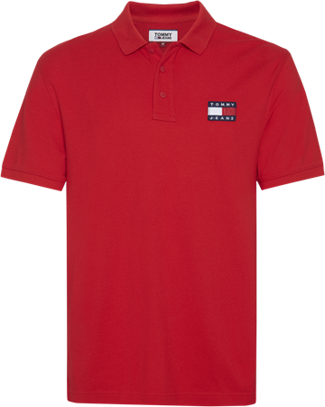 Tommy Jeans TJM Tommy Badge Poloshirt - Racing Red