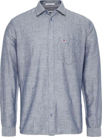 Tommy Jeans TJM Linen Blend shirt - Twilight Navy