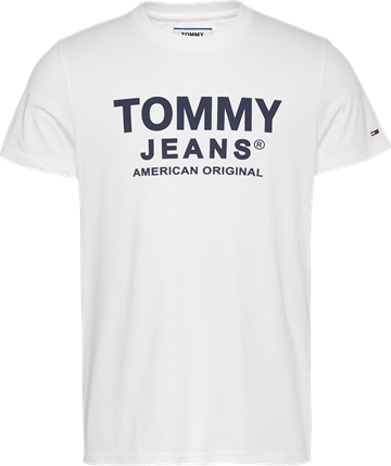 Tommy Jeans TJM Essential Front Logo Tee - White