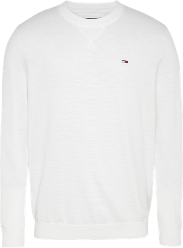 Tommy Jeans TJM Slub sweater - White