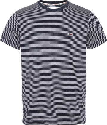 Tommy Jeans TJM Essential Strip Tee - Twilight Navy/White