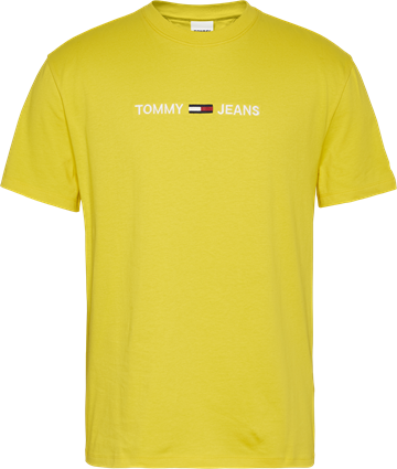 Tommy Jeans TJM Straight Logo Tee - Valley Yellow