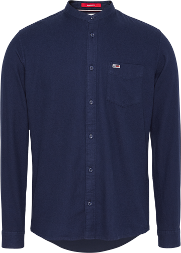 Tommy Jeans TJM Solid Flannel Mao Shirt - Twilight Navy