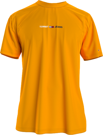 Tommy Jeans TJM Linear Logo tee - Florida Orange