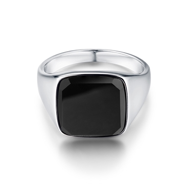 Northern Legacy Black Onyx Signature ring - Silver
