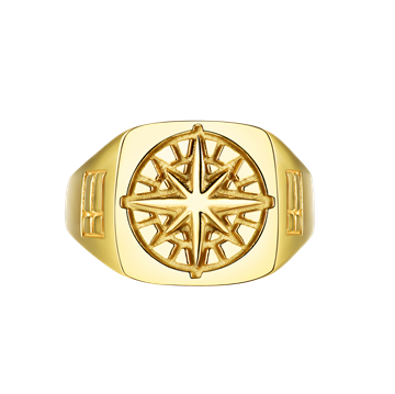 Northern Legacy Compass Signature ring - Gold