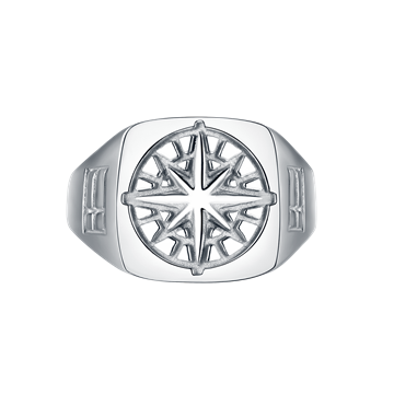 Northern Legacy Compass Signature ring - Silver