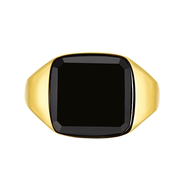 Northern Legacy Black Onyx Signature ring - Gold