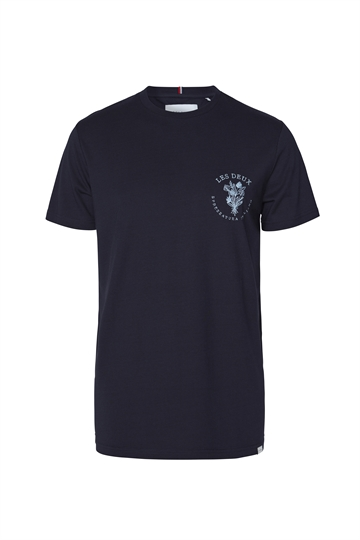Les Deux Sprezzatura t-shirt - Dark Navy/Dust Blue