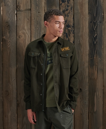 Superdry Core Military Patched Shirt - Army Green
