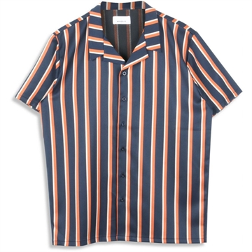Woodbird Sami Bowl shirt - Navy