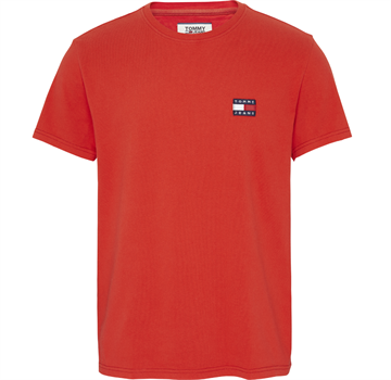 Tommy Jeans TJM Tommy Jeans Badge tee - Flame Scarlet