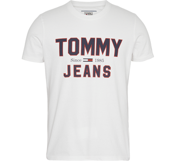 Tommy Jeans Essential 1985 Logo T-shirt - Classic White