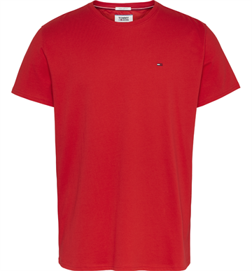 Tommy Jeans TJM Essential solid t-shirt - Racing Red